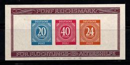 Zone Américaine, Britannique Et Russe 1946 Mi. Bl. 12B Bloc Feuillet 80% Neuf * - Zona AAS