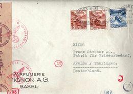 ! 1944, Schweiz, Brief Aus Basel Nach Apolda, OKW Zensur, Censure, Censor - Storia Postale