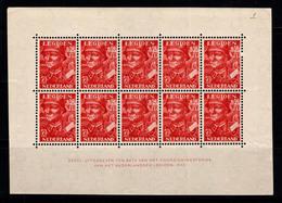 Pays-Bas 1942 Mi. Bl. 1 Bloc Feuillet 40% Neuf ** Légion Néerlandaise - Bloks