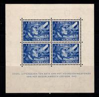 Pays-Bas 1942 Mi. Bl. 2 Bloc Feuillet 40% Neuf * Légion Néerlandaise - Bloks