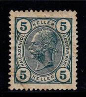 Autriche 1904 Mi. 108 Neuf ** 80% L'empereur Franz Joseph, 5 H - 1850-1918 Impero