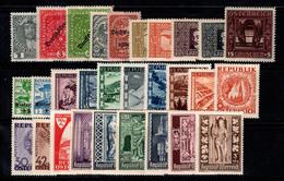 Autriche 1908-46 Neuf * 100% Empereur, Paysages, République - 1918-1945 1a Repubblica