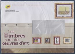 Enveloppe Entier Phil@poste Avec Tour Eiffel Barres Du Routage En Haut, Les Timbres Sont Des Oeuvres D'art - Ganzsachen