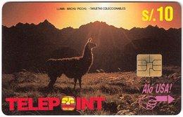 PERU A-161 Chip Telepoint - Animal, Lama - Used - Peru