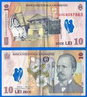 Roumanie 10 Lei 2008 Polymer Grigorescu Que Prix + Port Fleur Flower Paypal Bitcoin OK - Romania