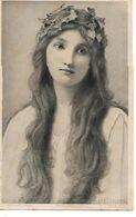 L60E014 - Portrait De Femme , Superbes Cheveux  - Photogravure H.Ryland Série 6144 - Women