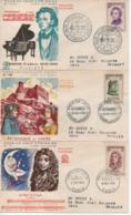 19557 FDC   CELEBRITES      N° YVERT ET TELLIER  1132/8 - 1950-1959