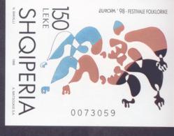 CEPT Nationale Feste Und Feiertage / Holiday Albanien Block 112 ** Postfrisch, MNH, Neuf - 1998