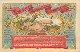 CHA698-chromo 10,5x7cms -truffes -cochons -elixir Du Perigord -liqueur Extraite De La Truffe Noire Chez Mr Alix Paris - - Unclassified