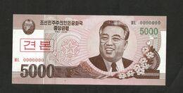NORTH KOREA / COREA Del NORD - 5000 Won - SPECIMEN - (2008) - Corea Del Norte