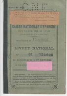 559 HAUTE GARONNE LIVRET CNE  1922 à 1940 CAISSE NATIONALE EPARGNE 31  TOULOUSE  SEYSSES - Assegni & Assegni Di Viaggio