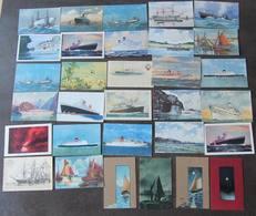 LOT De 31 CPA De BATEAUX  - Peintures - Illustrateur : Happner , Etc... -  Lire Descriptif - 1 Scan - Andere