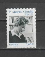 FRANCE / 2020 / Y&T N° 5388 ** : Andrée Chédid X 1 - Nuevos