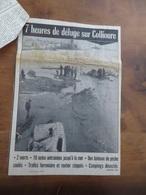 INONDATIONS À COLLIOURE (66)- COUPURE DU PROVENÇAL DU 21/09/1971. - Languedoc-Roussillon