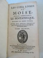 Les Cinq Livres De Moïse - Le Pentateuque 1696 Tome 1er Ed G Desprez Paris - Books, Magazines, Comics