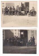 MOTOCICLETTA NON IDENTIFICATA  MOTO DIVERSE  -  MOTORCYCLE   - 2 FOTO ORIGINALE 1929 - Auto's