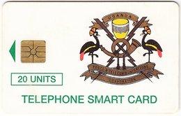 UGANDA A-051 Chip Post&Telecom - Crest Of Uganda - Used - Uganda