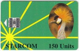 UGANDA A-054 Chip Starcom - Animal, Bird - Used - Uganda