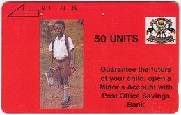 UGANDA A-055 Magnetic Post&Telecom - People, Schoolboy - Used - Uganda