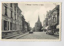 PÂTURAGES - Grand' Place Et Église - Voitures - Colfontaine - Colfontaine