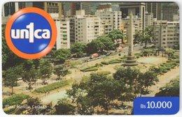 VENEZUELA B-677 Prepaid Un1ca - View, Town - Used - Venezuela