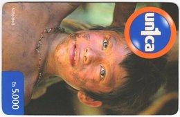 VENEZUELA B-680 Prepaid Un1ca - Native People, Child - Used - Venezuela