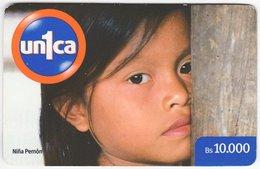 VENEZUELA B-686 Prepaid Un1ca - Native People, Child - Used - Venezuela