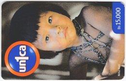 VENEZUELA B-688 Prepaid Un1ca - Native People, Child - Used - Venezuela