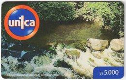 VENEZUELA B-697 Prepaid Un1ca - Landscape, Creek - Used - Venezuela
