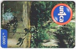 VENEZUELA B-698 Prepaid Un1ca - Landscape, Creek - Used - Venezuela