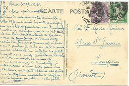 TIMBRE N° 174 / 233      - TARIF DU 9 8 26 AU 11 7 37  -  CP   -   - 1931-   - - Postal Rates
