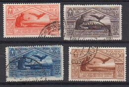 Italie 1930 Poste Aerienne Yvert 21 / 24 Obliteres. Billenaire De La Naissance De Virgile - 1900-44 Victor Emmanuel III.