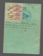 Timbre Fiscal  Réfugiés  Russe Sur C.I. étrangère - Revenue Stamps