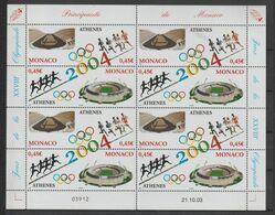 Monaco 2004 JO D'Athènes 2439-40 En Feuille ** MNH - Unused Stamps