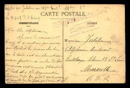 CACHET DU 115 EME REGIMENT D'INFANTERIE TERRITORIALE 9 EME COMPAGNIE ENVOYE DE ST JULIEN (VOSGES) LE 9.1.1915 - Marcophilie (Lettres)