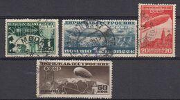 Russie URSS 1931 Poste Aerienne Yvert 23 / 26 Obliteres. - 1923-1991 UdSSR