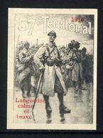 WW1- DELANDRE -57e Rgt D'Infanterie Territoriale  - ND - Vignette NEUVE ( Sans Traces De Charnières ) - NMNH - Erinnophilie