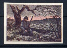 WW1- DELANDRE -  355e Rgt D'Infanterie  - ND - Vignette NEUVE ( Sans Traces De Charnières ) - NMNH - Erinnophilie