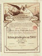 Titre Ancien - Société D'Eclairage De Clausenbourg Et Extensions - Société Anonyme - Roumanie - Titre De 1897 - Déco - - Electricity & Gas