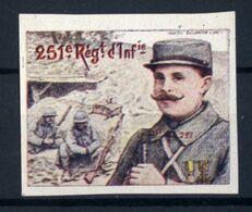 WW1- DELANDRE - 251e Rgt D'Infanterie  - ND - Vignette NEUVE ( Sans Traces De Charnières ) - NMNH - Erinnophilie