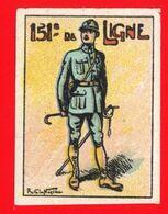 WW1- DELANDRE - 151e Rgt D'Infanterie  - ND - Vignette NEUVE ( Sans Traces De Charnières ) - NMNH - Erinnophilie