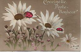 L60E050 - Coccinelle Porte Bonheur Sur Marguerites - La Favorite N°1217 - Other