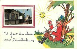 -dpt Div-ref-AU195- Charente Maritime - Chatelaillon - Humour - Illustrateur Jean De Preissac - Chasse - Medaillon Café - Châtelaillon-Plage