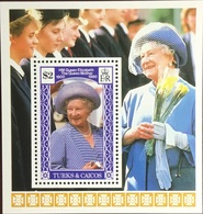 Turks & Caicos 1990 Queen Mother Minisheet MNH - Turks And Caicos