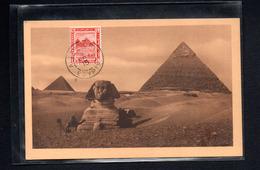 EGYPTE  -- CARTE MAXIMUM   1915  LE CAIRE  Pyramide Et Sphinx De GIZE - Egitto