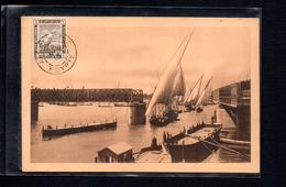 EGYPTE  -- CARTE MAXIMUM   1915  LE CAIRE-ALEXANDRIE --  Felouques - Egitto