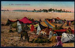 Algérie Campement De Nomades Bédouins Désert Palmeraie Oasis écrite Tlemcen Le 09 05 1940 TB V. Explic - Scene & Tipi