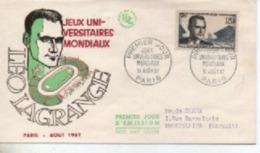19557 FDC   JEUX UNIVERSITAIRES   N° YVERT ET TELLIER    1120 - 1950-1959