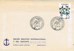 37651. Carta BARCELONA 1975. Salon Nautico Internacional Y Del Deporte - 1931-Aujourd'hui: II. République - ....Juan Carlos I