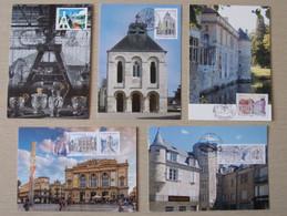 2018&2019 France 5 Cartes Maximum 1er Jour Métiers D'Art Tailleur De Cristal Maroquinier 100ans Chèques Postaux Etc - Cartoline Maximum